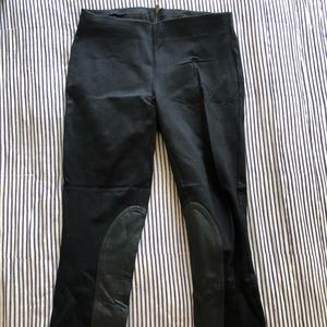 J crew leather panel pixie pants - size 4 black
